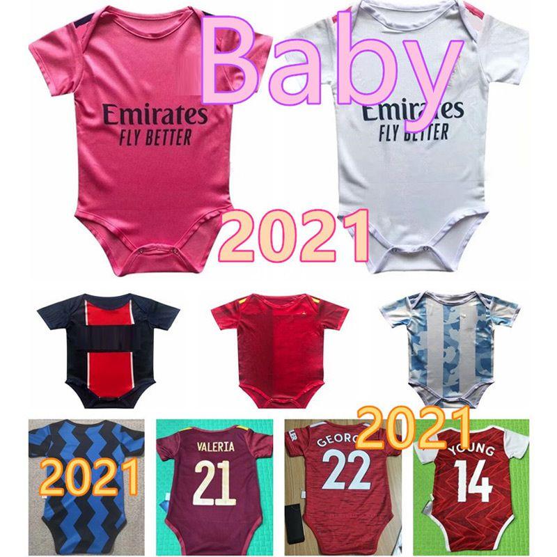20 21 22 Baby Jersey 2020 2021 Real Madrid Espanha 6-18 meses Baby Football Jersey Crawling Jersey M-U BB Genius