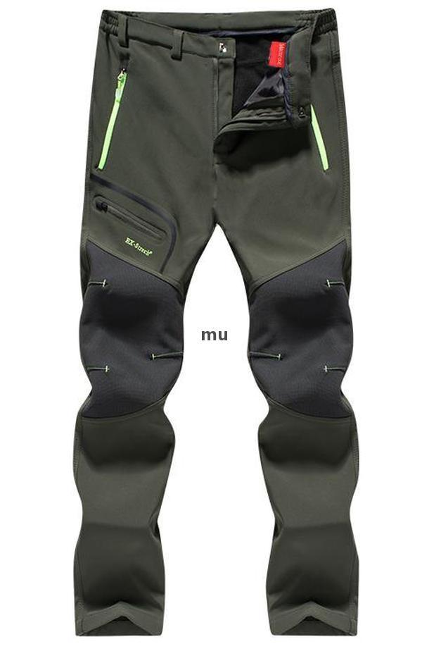 2021 nuevos pantalones de senderismo hombre impermeable softshell invierno pantalones al aire libre deportes camping trekking ciclismo ski fleece pantalones de gran tamaño i