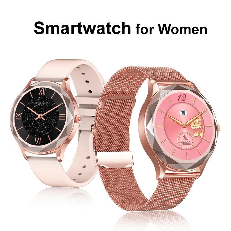 Mulheres Smart Relógio Coração Coração Pressão Sanguínea Monitor Esporte Fitness Tracker IP67 Bluetooth Smartwatch Smartwatch Dia dos Namorados Menina Presente de Amigo