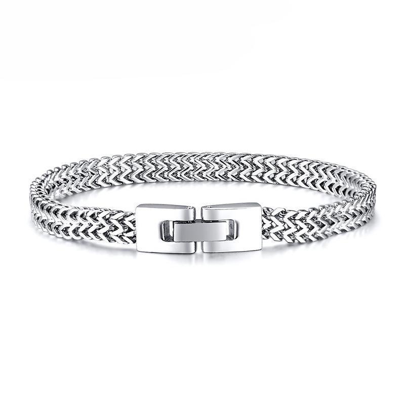 Bracelet en acier inoxydable bracelet en acier en acier inoxydable Chaînes à la main Bracelets HIP HOP HOP cadeaux pour accessoires masculins bijoux
