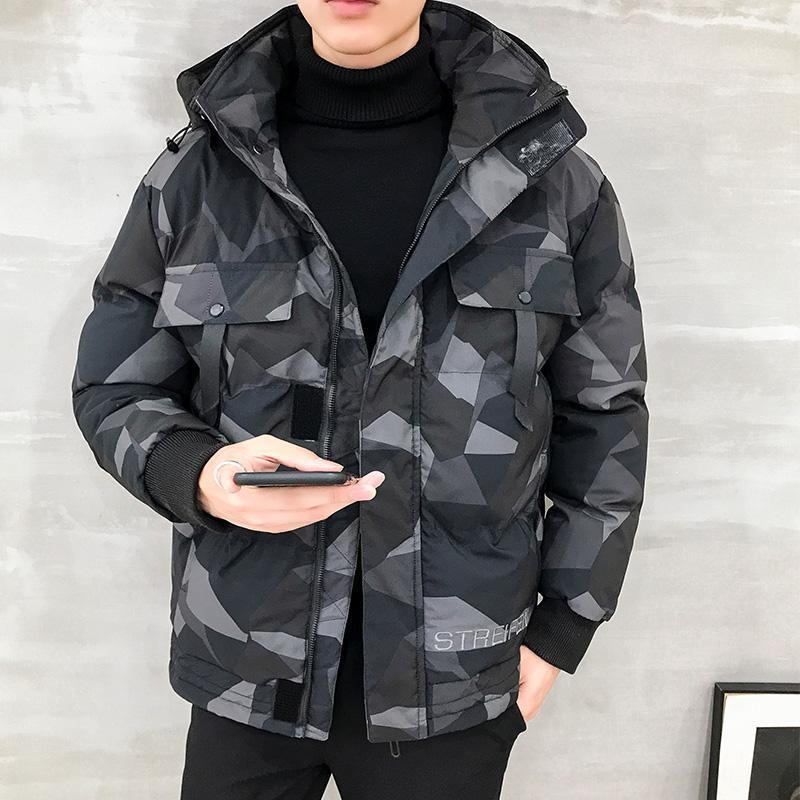 Wintermantel Herren 2020 Neue koreanische Version des Trends Verdickten Winter Daunenwollwolle Baumwolle Baumwolle Kleidung Kleidung