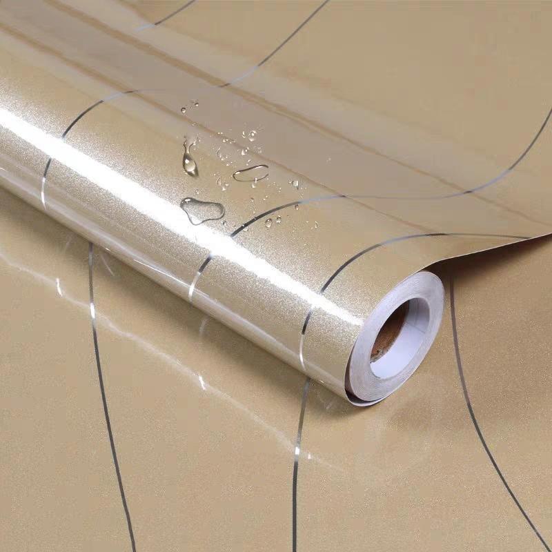 Gabinete de muebles de PVC grueso Etiqueta de película autoadhesiva Etiqueta de pintura Oro Pintura Fondo de pantalla Plata Línea impermeable Armario Contacto Papel 201202
