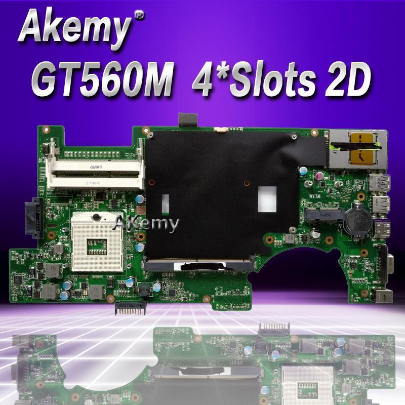 Akemy G73SW Mainboard REV2.0 For Asus G73SW G73S G73 Laptop motherboard HD3000 100% fully tested HM65 Support GT560M 4*Slots 2D