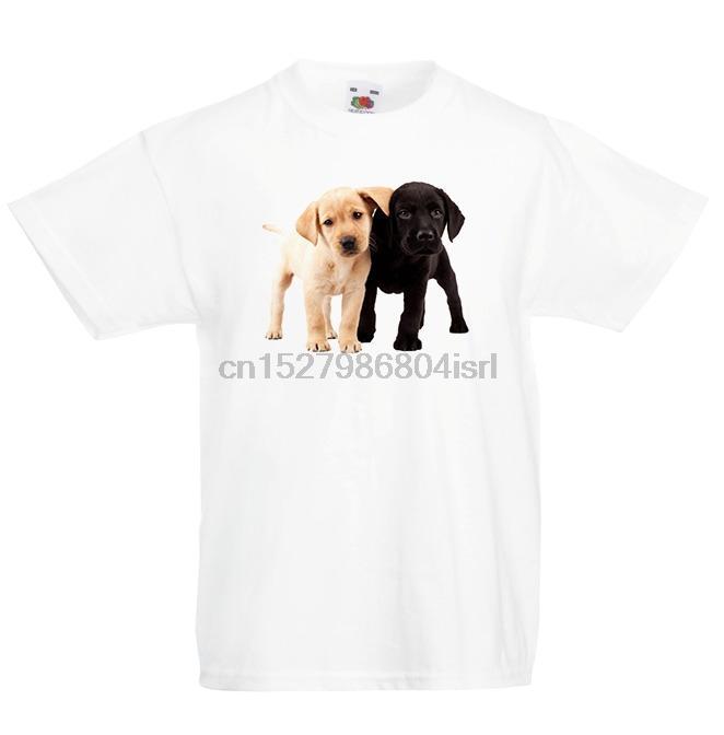 Labrador T-shirt do esporte Crianças Rapazes Raparigas Top Dog Unisex Filhote de cachorro preto branco moletom com capuz Hoodie