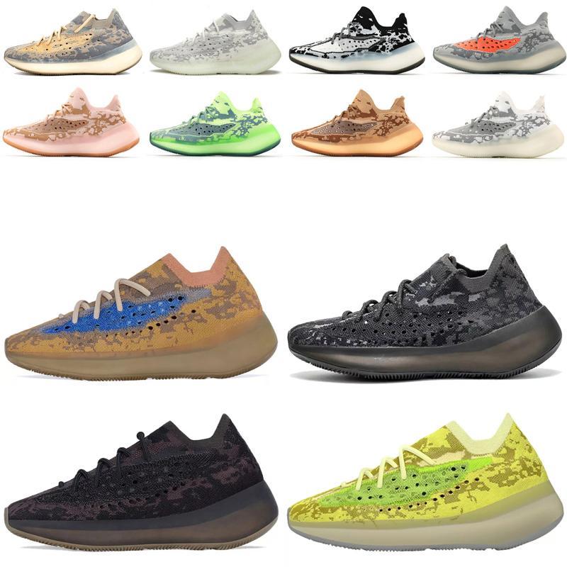 2021 Dernière Kanye West 380 V3 Chaussures de course de course Top Qualité Poivre Bleu d'avoine Mist d'avolue 3M réfléchissant Hommes Femmes Sneakers Casual Sports Shoes