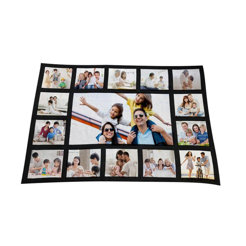 125 * 150 cm Blank sublimación Fleece Blanket de transferencia térmica de tejido de felpa Mat Llanura de alfombras 9 15 20 Squares rectángulo tela escocesa Manta 102002