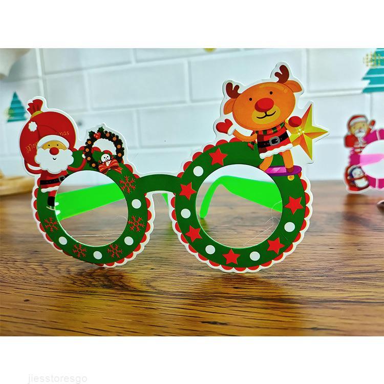 2020 carta decorativa per adulti bambini all'asilo partito occhiali creativo cartone animato cornice di Natale