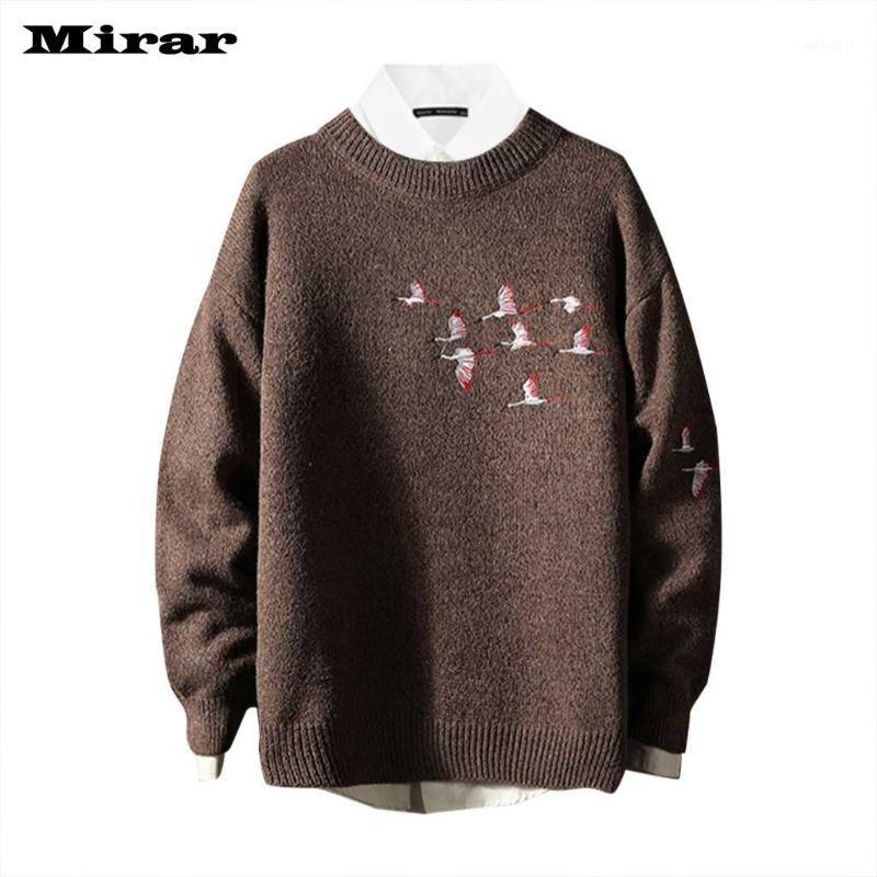 Outono masculino e inverno nova moda cor sólida pulôver com camisola do pescoço1