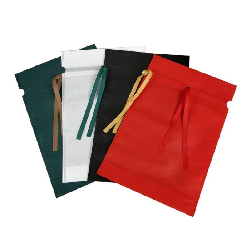 3 шт. Нетканый пакетная сумка Подарочная упаковка с сумкой Настоящая Упаковочная ткань