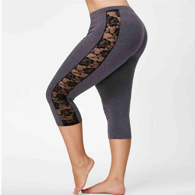 Stroje jogi Plus Size Skinny Kobiet Spodnie Spodnie Spodnie Legginsy Spodnie Bieżące Sportowe Elastyczne 5xl 2021 Sexy Perspective Legging