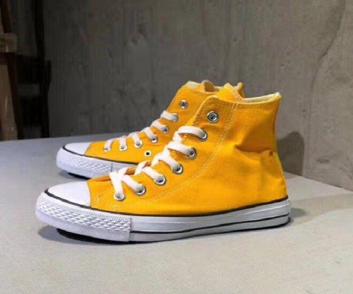 Yeni Büyük Boy 35-45 Rahat Ayakkabılar Düşük / Yüksek Üst Rahat Klasik Tuval Ayakkabı Erkek / Kadın Tuval Ayakkabılar