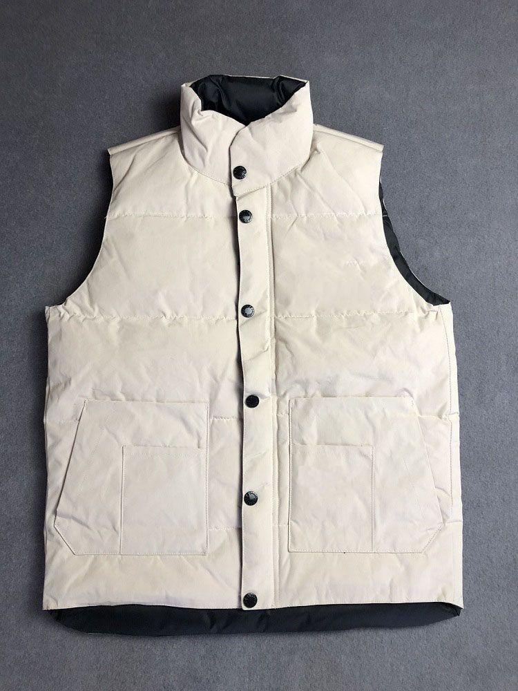 Vest Down Jacket Mantenha os homens quentes dos homens do inverno da estilista dos homens e as mulheres engrossam o tamanho do revestimento exterior do revestimento exterior S-2XL