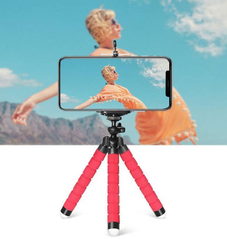 مرنة الأخطبوط ترايبود الهاتف حامل حامل العالمي حامل للهاتف الخليوي سيارة كاميرا selfie monopod مع بلوتوث البعيد مصراع BT202