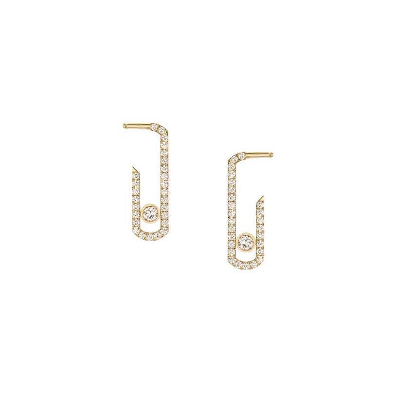 펑크 록 순수 크리스탈 CZ 이동 지르콘 쥬얼리 패션 스털링 쥬얼리 Pave Drop Earring 여성을위한 새로운 디자이너 귀걸이