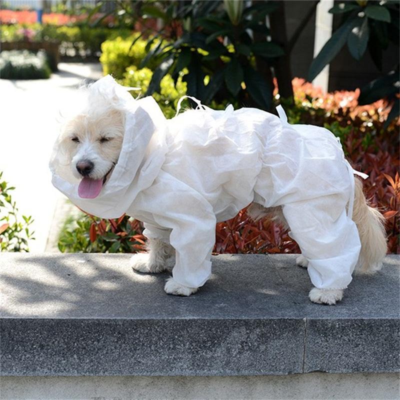 Pet Dog Cooked Изоляция Одежда Сплошной цвет Антидуз одноразовый Cat Щенок защитный костюм собачкой Одежда в наличии 12QS E19