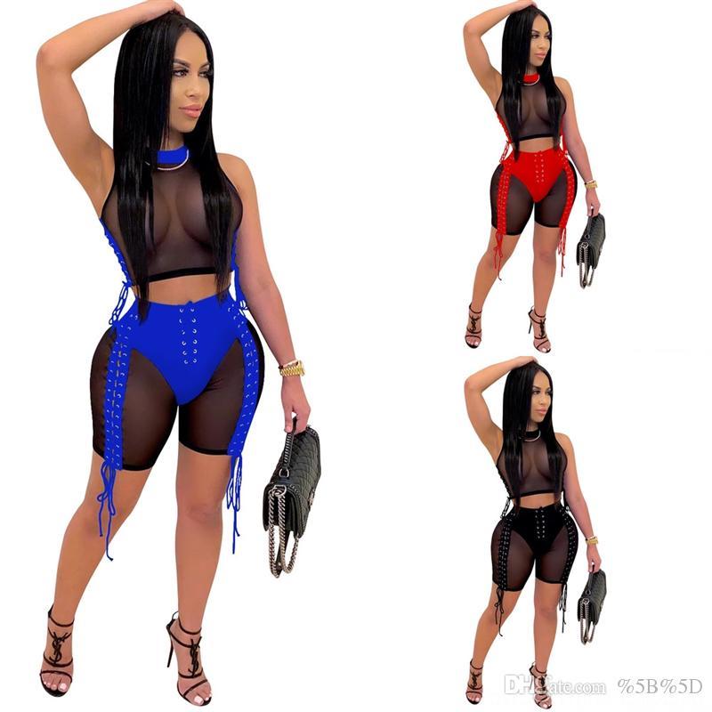 QRI Womens Twodrodes Sexy Zwei Torte Kleid Slash Sexy Hals Skinny Top Strap Spaghetti Knie über Kleider Damen Natürlich