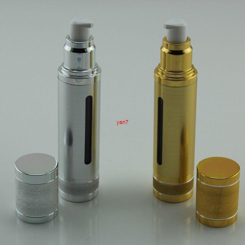 Glitter Shimmer Gold Silver Empty Airless Bottles 30ml 50ml Portable Vacuum Pump Travel Bottle for Makeup Essence Cream 100pcsgood qualtityg