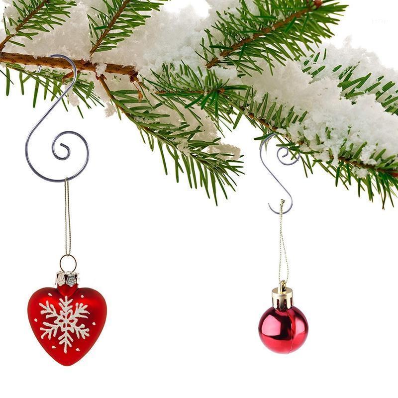 120 Stück Weihnachtsverzierungshaken S Form Aufhänger Haken Wirbel Scroll Ornament Haken Für Weihnachtsbaum Dekorationen Aufhänger (Silve1