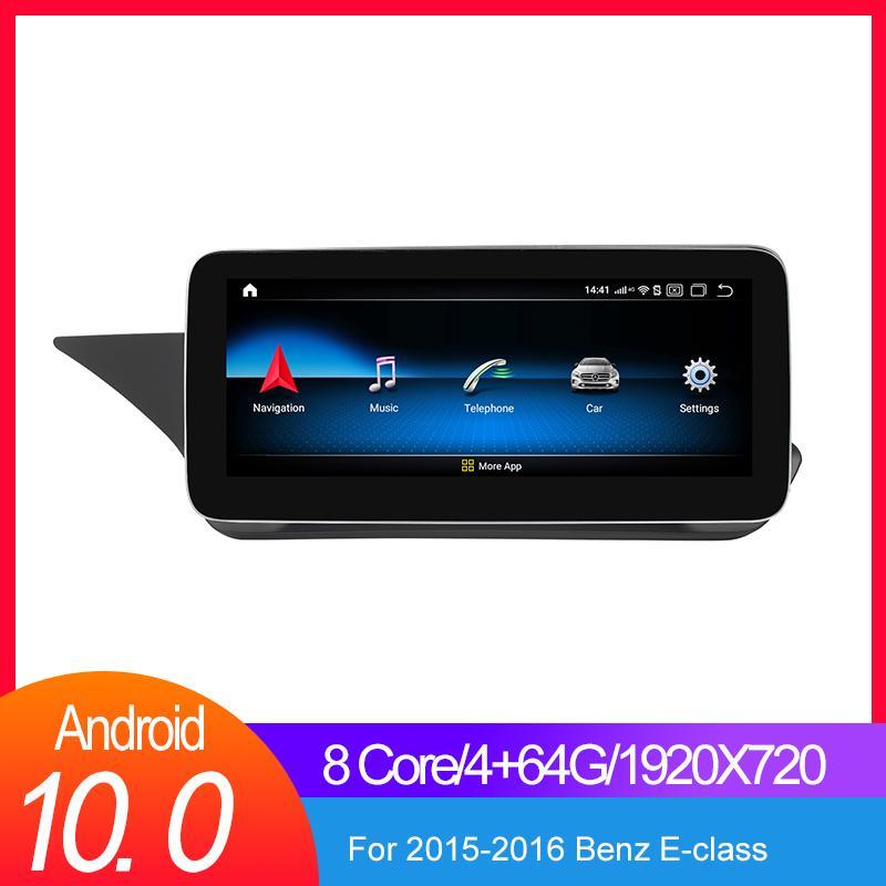 1920 * 720 Carplay 4GB Android 10.0 Car GPS Multimedia Player para Mercedes Benz E Classe C207 W207 A207 Dois Porta Coupe