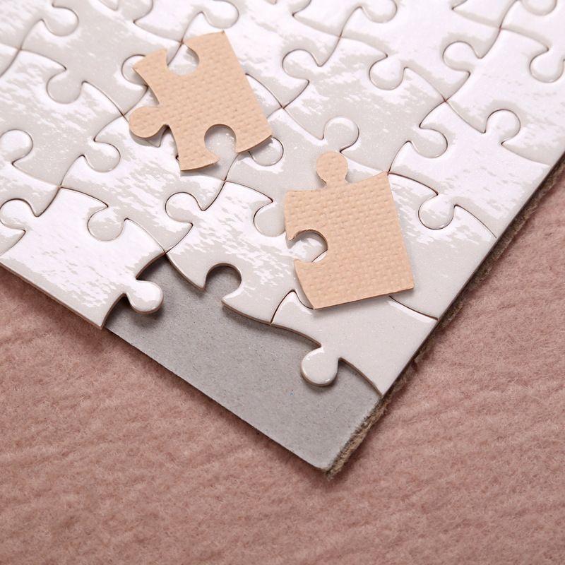Sublimation Puzzle A5 Größe DIY Produkte Sublimations Leerzeichen Puzzles Weiße Puzzle 80 stücke Wärmedruck Transfer Handgemachtes Geschenk YFA2694