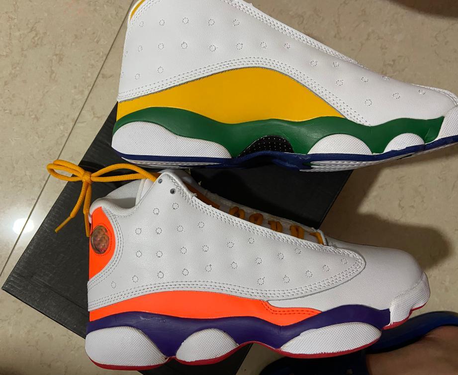 2021 GS Oyun Alanı Çocuklar 13 Çocuk Spor Ayakkabı Aurora Yeşil Ayakkabı ile Kutusu Erkek Kız Pembe Basketbol Ayakkabı Mağazası
