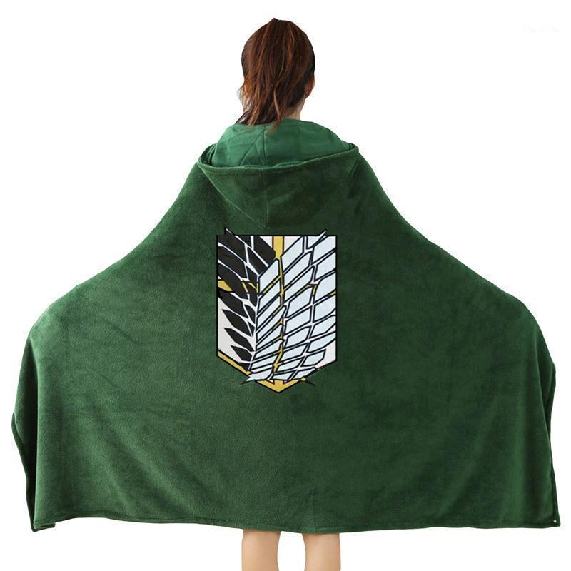 الهجوم على تيتان لا kyojin مسح فيلق بطانية مع مقنعين ارتداء رمي الكشفية فوج أفخم بطانية هدايا 1