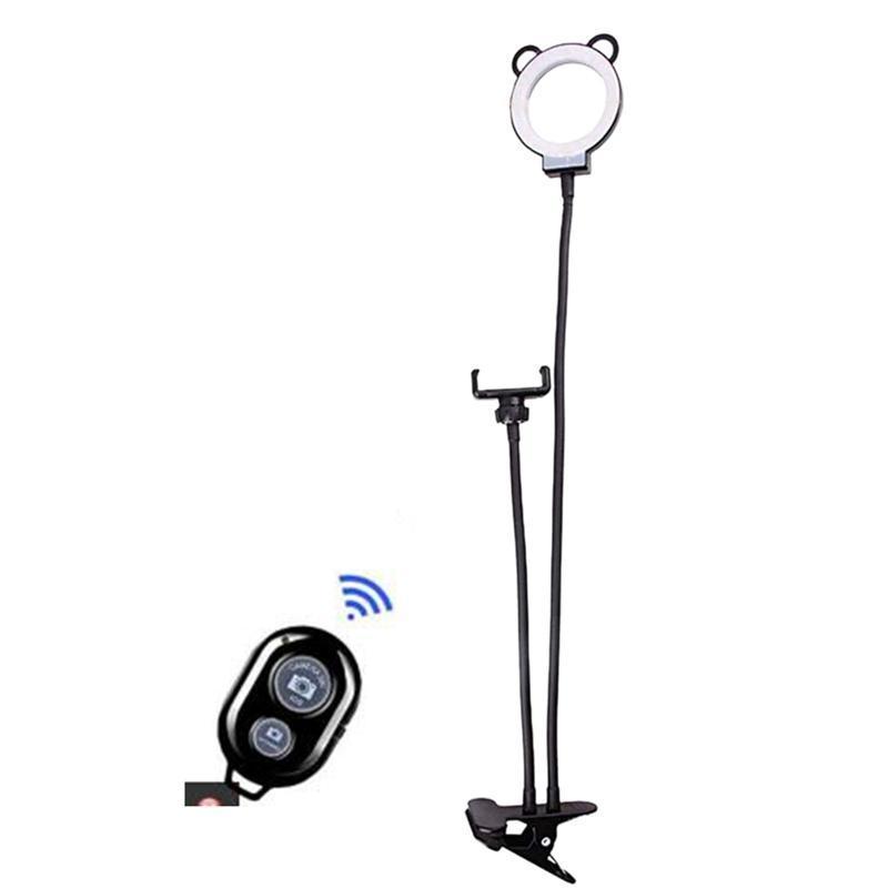 Диммируемый селфи Кольцо света с пультом дистанционного управления и 65см GOOSENECK телефона Стенд сотового Stand для YouTube Live макияж студии