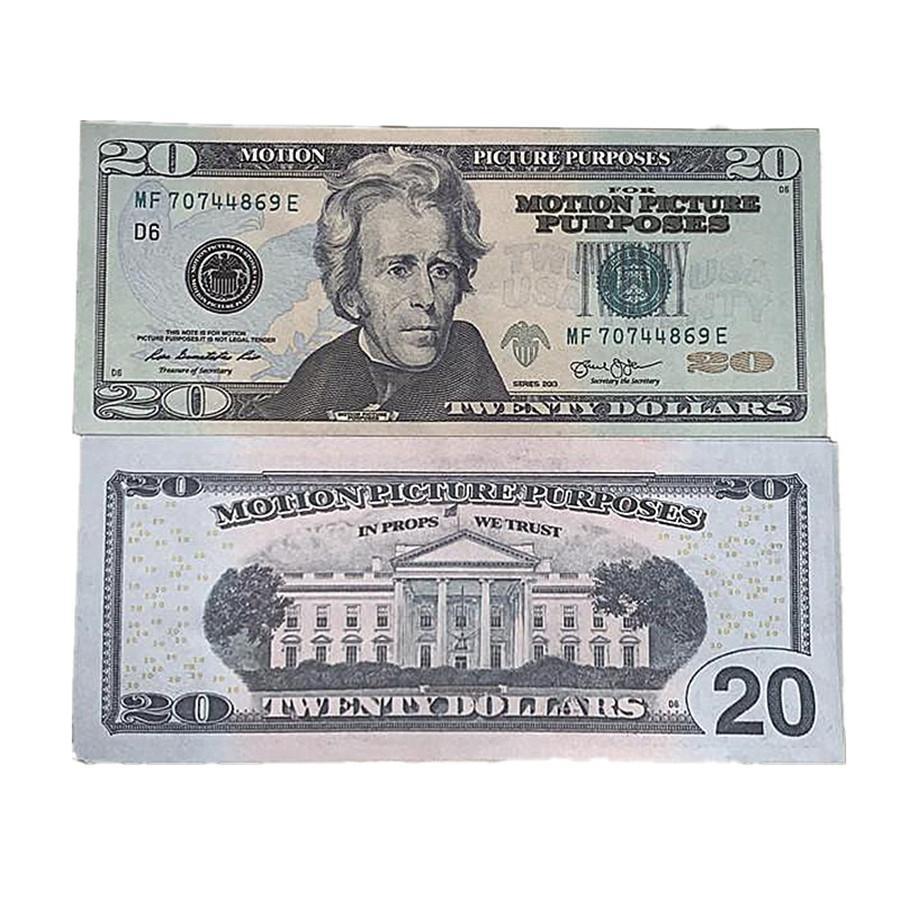 Magic Copy Show 8F Movie Shooting Toys Kinder Geld Fast Geschenk Bill Gefälschte Dollar Requisiten Währung US-Versand 100pcs / Pack RVFAV TFGTB
