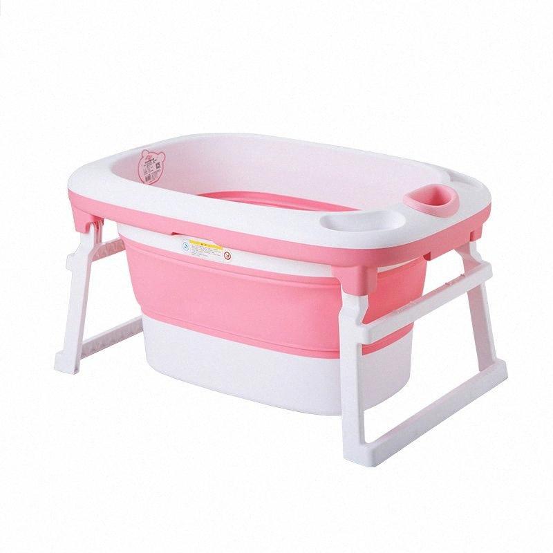 2020 2020 Горячие Продажа Детские ванны Дети Bucket Складной Детские Новорожденный Ванна Складной душ Fold Способный Non Слип Ванна Стенд безопасности SRDT #