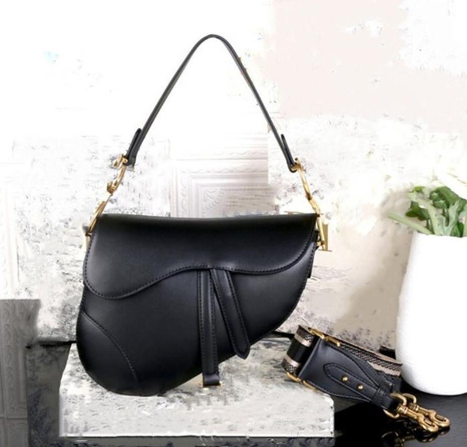 Luxurys Designer Bolsos Diseñador Bolso Dama Bolsos de cuero genuino con letras Sillín Bolsa de cuero de cuero genuino de calidad superior