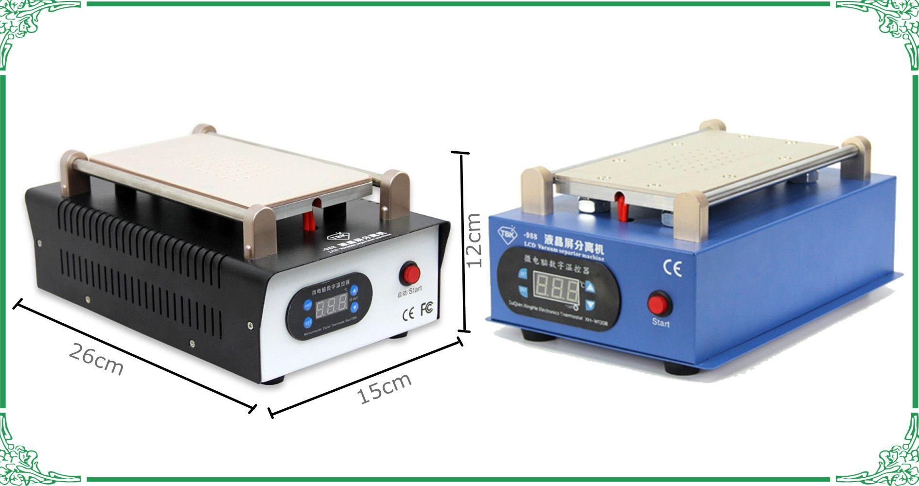 8inch vuoto LCD Separator TBK 988 touch screen cellulare separare incorporato pompa a vuoto macchina LCD ristrutturazione