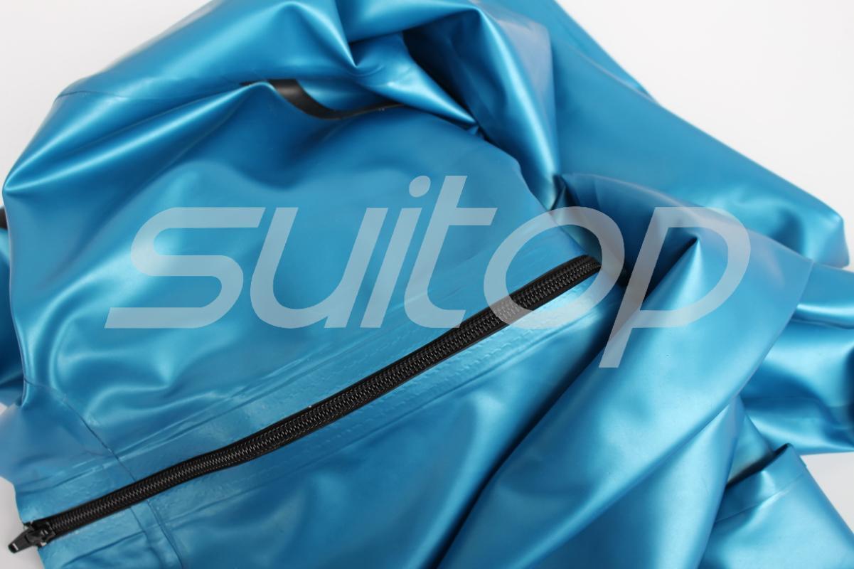Latex Damen-Jeanshose (NICHT einschließlich TOP und Gürtel) in Metallic Blau