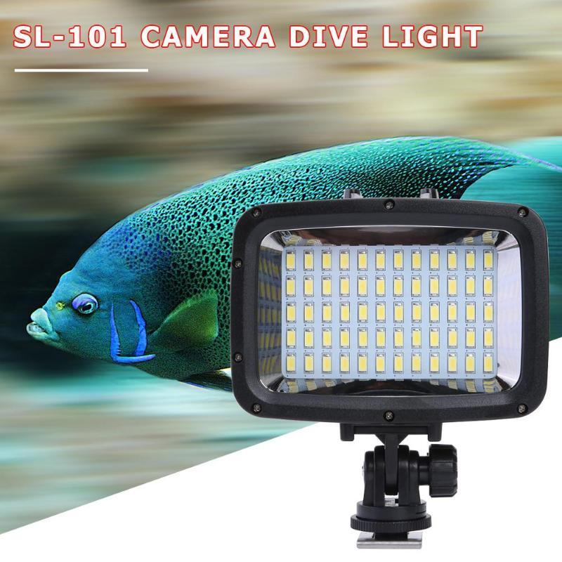 SL-101 LED Diving Waterproof Camera Video Fill Light 1800LM 40m Underwater Camera Photography LED Light Lamp for