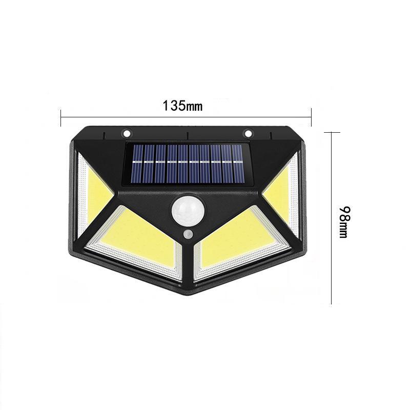 COB 76LED Солнечные лампы POW PIR Датчик движения Настенный Свет Накрытый Водонепроницаемый Уличный Двор Путь Главная Садовая Лампа безопасности