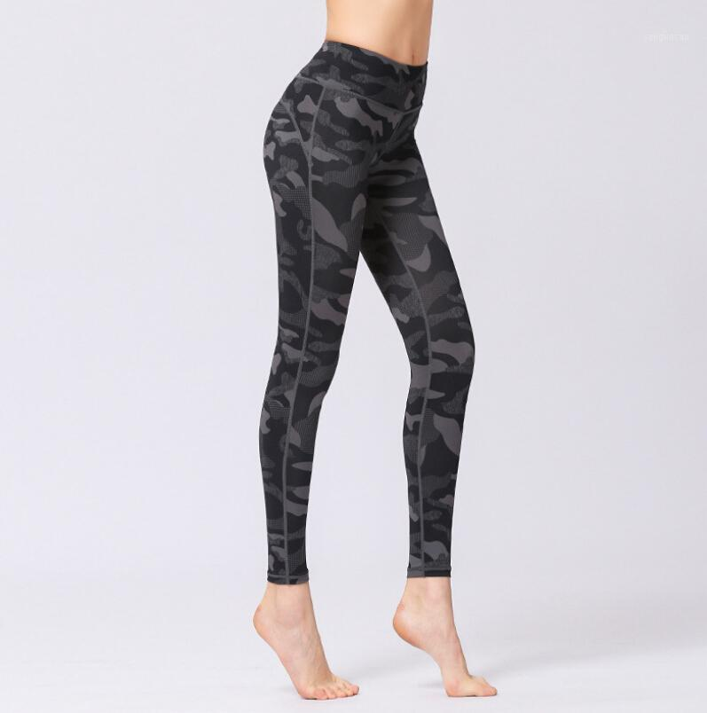 Spor pantolon yeni üreticileri toptan kamuflaj baskılı yoga pantolon kadın açık spor pantolon dans yoga dokuz pantolon1