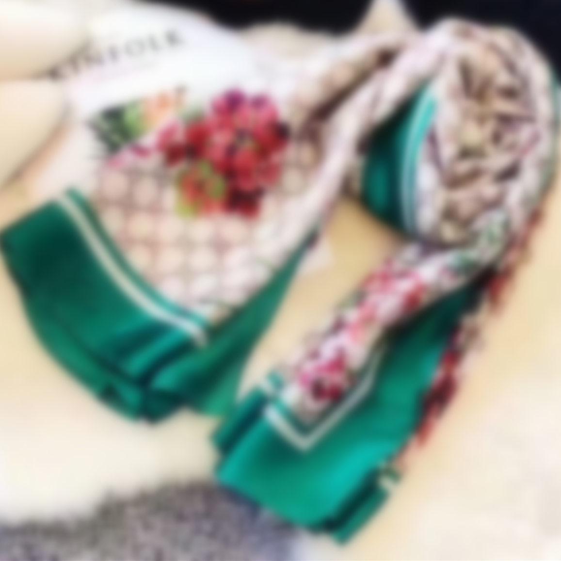 Sciarpa da donna scialle floreale involucro autunno e inverno moda sciarpe di seta classico anello lungo suquar donna signore sciarpa morbida di alta qualità