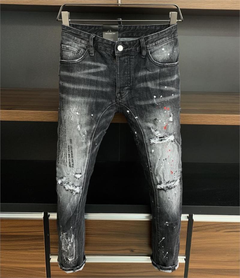 2020 Runway stile partito Europeo di Design di moda maschile THK09951 Jeans Abbigliamento Uomo