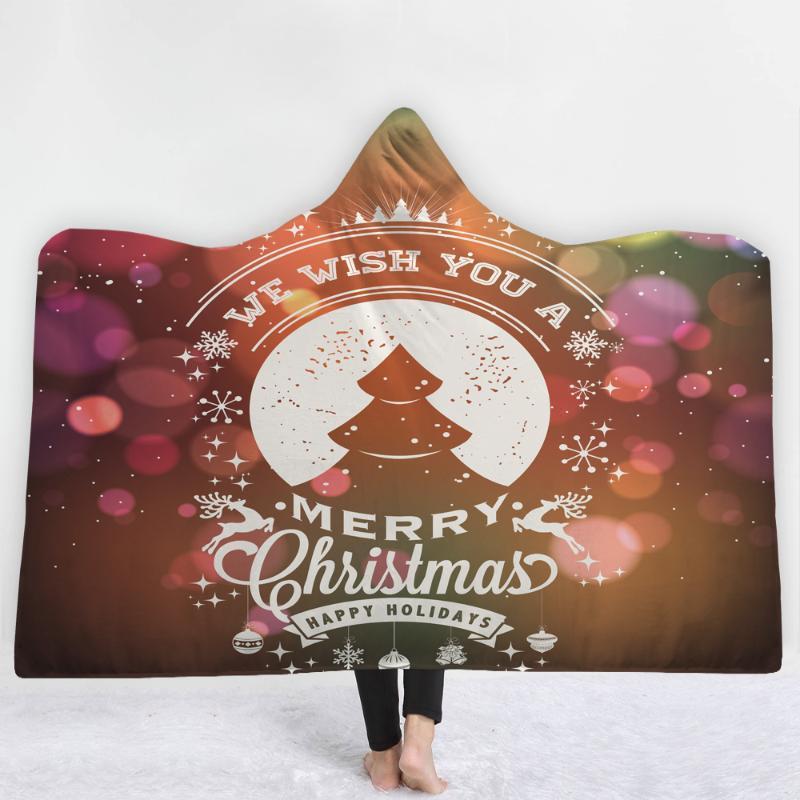 Рождественская елка мечта стиль одеяло с шляпой держать теплое мягкое удобное одеяло письмо с Рождеством Христовым