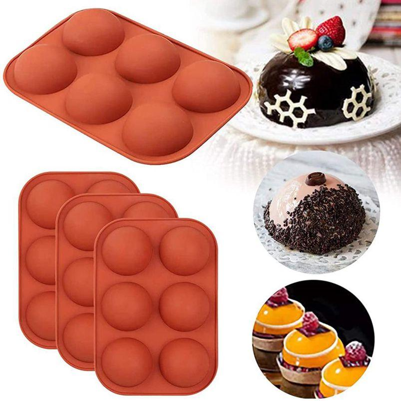 Chocolate Molds Silicone for Baking Semi Sphere Silicone Molds Baking Mold for Making Kitchen Hot Chocolate Bomb Cake Jelly Dome Mousse W104