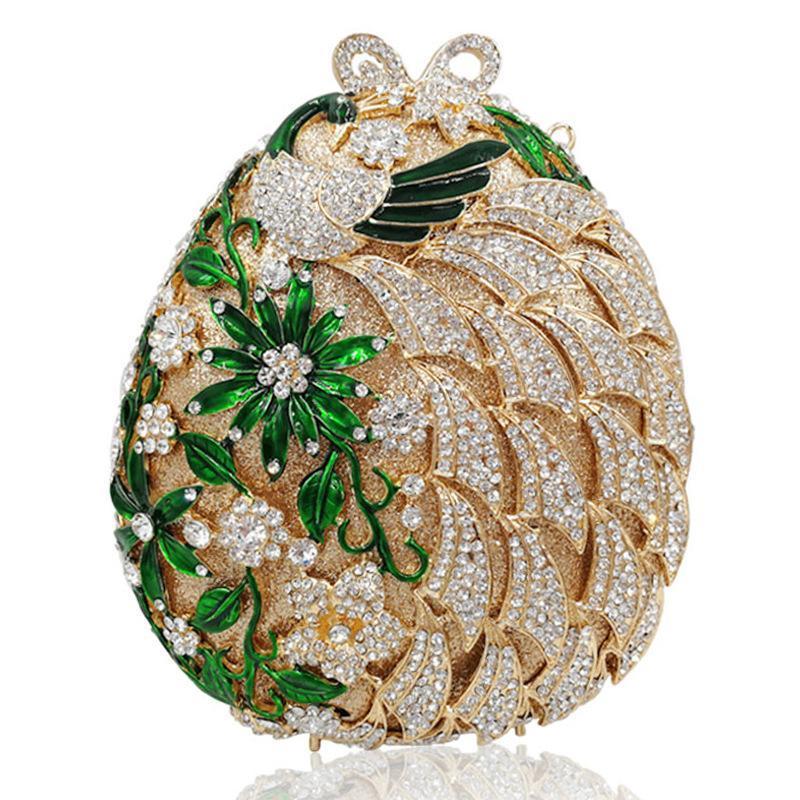 Luxuxgold Abendtaschen für Frauen Kristall Schulter-Handtaschen arbeiten Damen-Minipartei-Abschlussball-Kupplungs-Geldbeutel Kette Mini-Handtasche