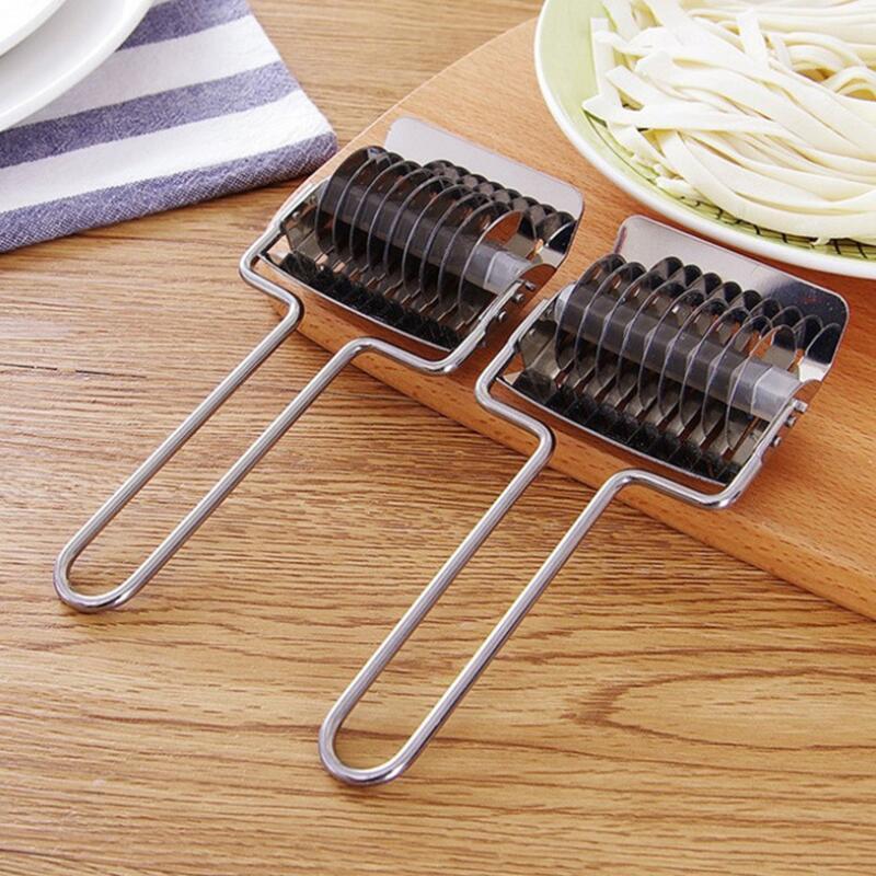 Acier inoxydable Noodle Lattice Rouleau Échalote Cutter pâtes Machines Maker Spaghetti Manuel Pâte de presse Outils de cuisson DWB2094