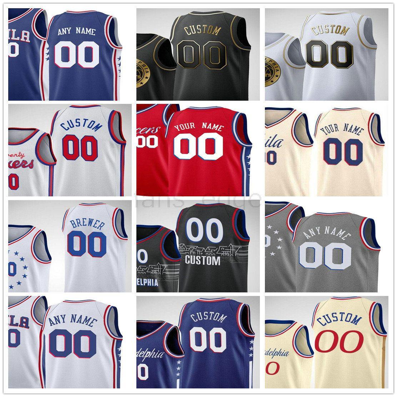 مخصص مطبوعة جويل 21 Embiid بن 25 سيمونز توبياس 12 هاريس دوايت 39 هوارد سيث 30 كاري الرجال امرأة أطفال الشباب الفانيلة كرة السلة
