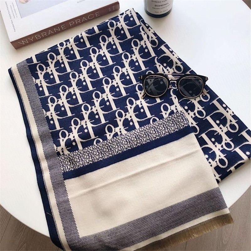 Moda designerwomen Cashmere Letras E womandener lenço Double-SidedScarves designer de Outono Thicken Xaile Inverno sc oMl4