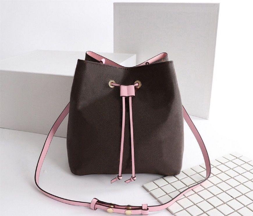 Kadın Lüks Tasarımcılar Çanta 2020 4 Renkler kadın Kova Omuz Çantaları Escale Neonoe Crossbody Çanta