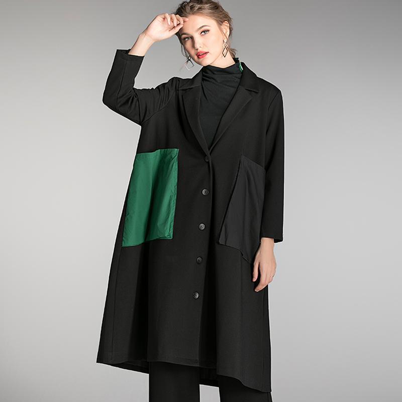 Damskie płaszcze płaszcze płaszcz Z Kapturem Zima Jesień Plus Size Kobiety Oversized Casual Hooded Znosić kobiety