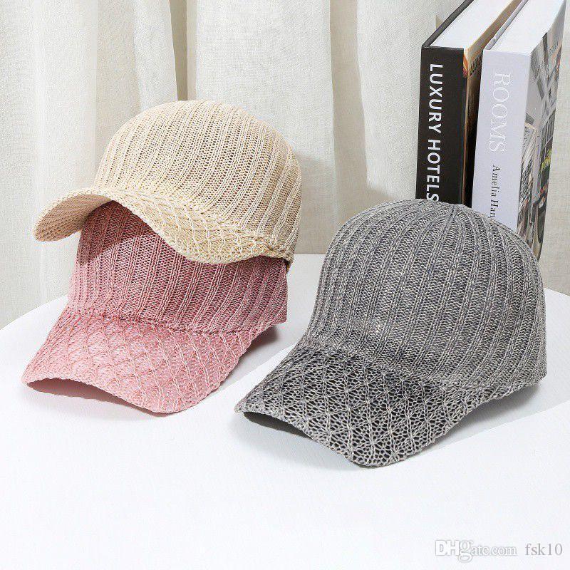 Hip-hop del cappello del cappello di Sun del parasole regolabile Mesh Baseball protezione esterna di protezione solare traspirante Sport Cap