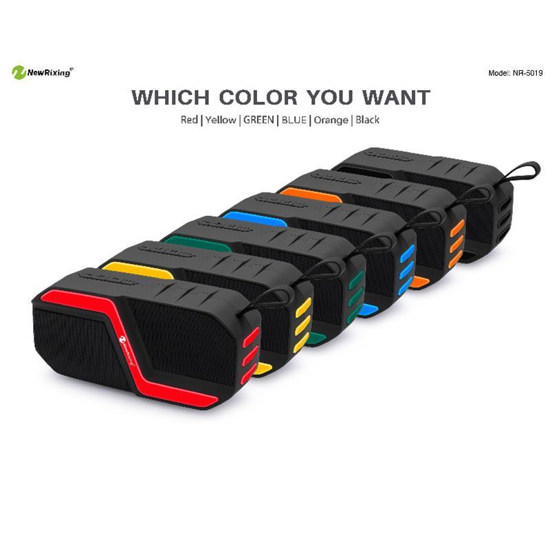 Altavoz al aire libre portátil TWS impermeable Altavoz Bluetooth inalámbrico Altavoz deportivo al aire libre Función de energía móvil Soporte FM USB TF