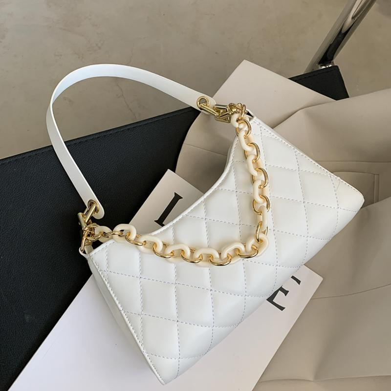 Классический дизайн PU Плед QUILTED Женские сумки на ремне Tendy цепи сумки Малые площади Crossbody сумка