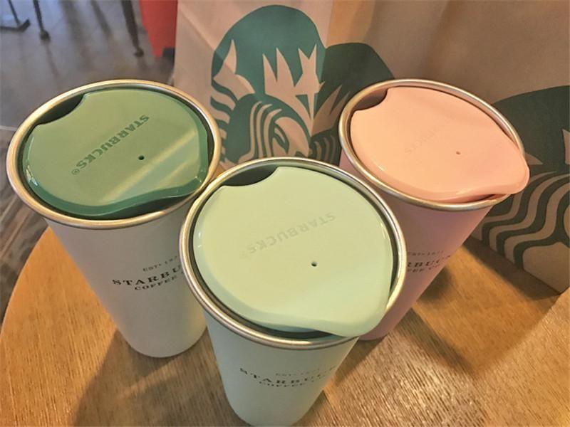 2021 Starbucks Vakum Yalıtımlı Seyahat Kahve Kupa Paslanmaz Çelik Tumbler Ter Ücretsiz Çay Bardağı Termos Şişesi Su Şişesi