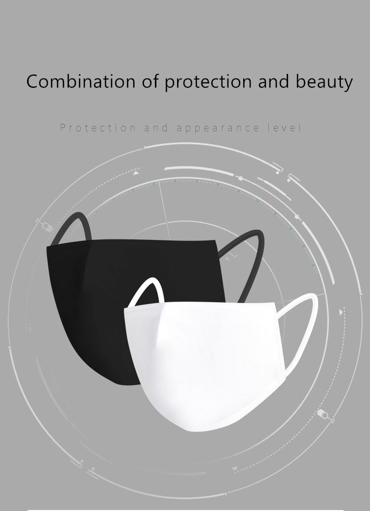 Máscara anti-poeira de algodão Boca Rosto Unisex Homem Mulher Ciclismo usando máscaras preto Moda algodão Boa Qualidade